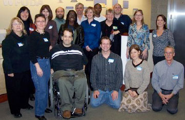 CCN digital inclusion supporters  gathered in Olympia