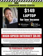 low cost internet and laptop
